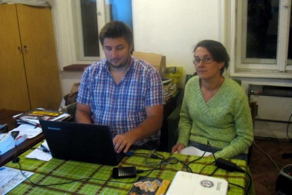 Szymon Baron i Katarzyna Talik w trakcie prelekcji