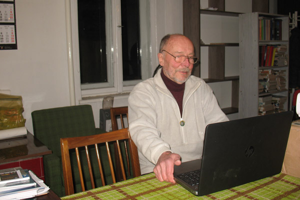 Andrzej Popowicz w trakcie prelekcji