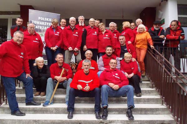 pamiątkowe zdjęcie uczestników posiedzenia ZG PTT w Wiśle