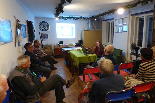 Katarzyna Remsak w trakcie prelekcji