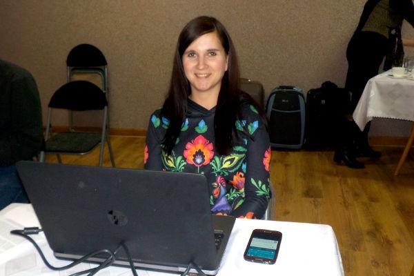 Agnieszka Gaweł w trakcie prelekcji