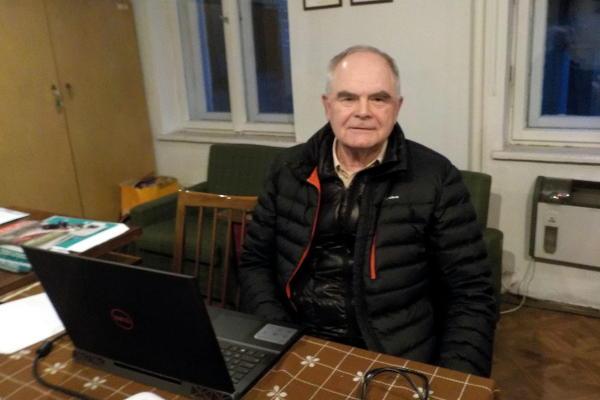 Andrzej Ziółko w trakcie prelekcji